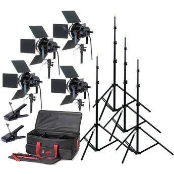 Smith-Victor K76 4-Light 4,000 Watt Professional Studio Kit (120V)
