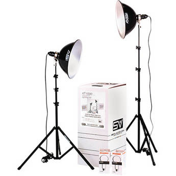 Smith-Victor KT1000U 2-Light 1000 Watt Intermediate Thrifty Umbrella Kit