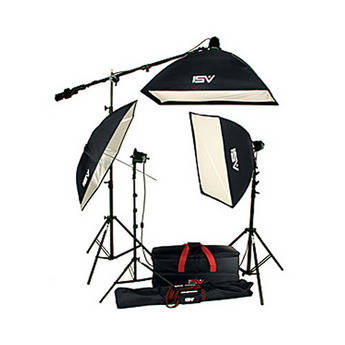 Smith-Victor K45 3-Light 1800 Watt Portrait Kit with Umbrella and Soft Box