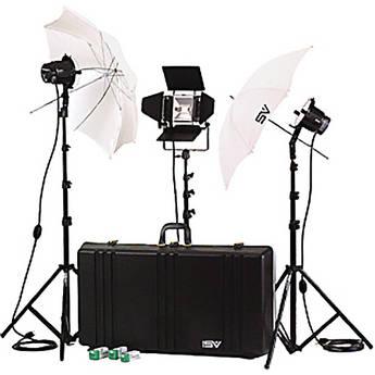 Smith-Victor K77 3-Light 2,200 Watt Professional Interview Lighting Kit (120V AC)