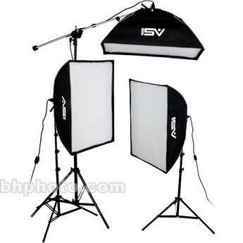 Smith-Victor KSBQ-2500 2500 Watt Pro SoftBox Light Kit with Mini-Boom (120V)