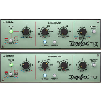 Softube Tonelux Tilt - One Knob EQ with Filter Section Plug-In (TDM)