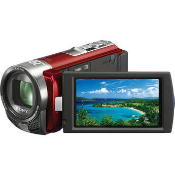 Sony DCR-SX45E SD Flash Memory PAL Camcorder (Red)