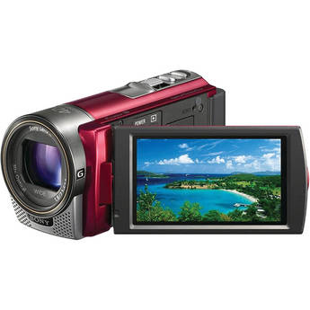 Sony HDR-CX130E Full HD Flash Memory PAL Camcorder (Red)