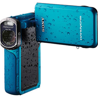 Sony 16GB HDR-GW77V Waterproof Full HD Camcorder (Blue)