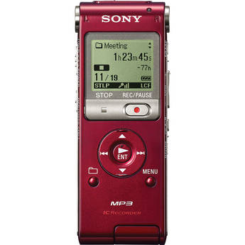 Sony ICD-UX200 Digital Voice Recorder (Red)