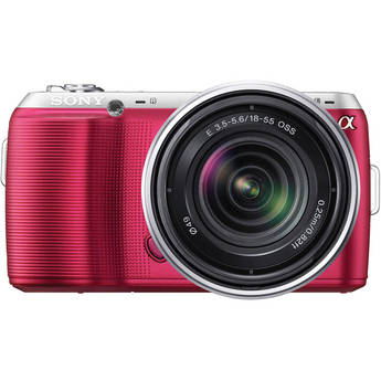 Sony Alpha NEX-C3 Digital Camera with 18-55mm Lens (Pink)