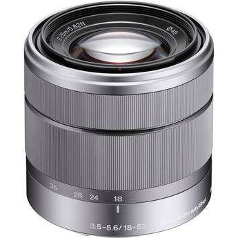 Sony E-Mount SEL 1855 18-55mm f/3.5-5.6 Zoom Lens for Alpha NEX Cameras (Silver)
