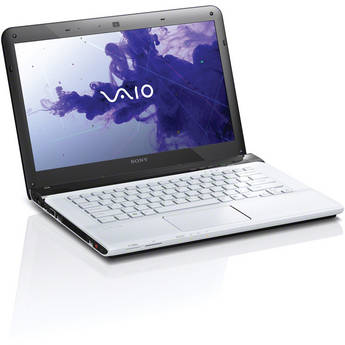 "Sony VAIO E1411 SVE14116FXW 14"" Notebook Computer (White)"