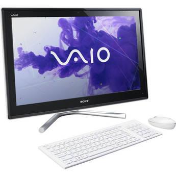 """Sony VAIO L23 VPCL23CFX/W 24"""" All-in-One Desktop Computer (White)"""