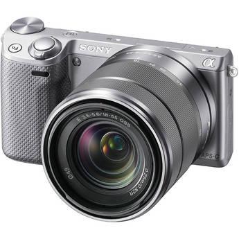 Sony Alpha NEX-5R Mirrorless Digital Camera with 18-55mm f/3.5-5.6 E-mount Zoom Lens (Silver)