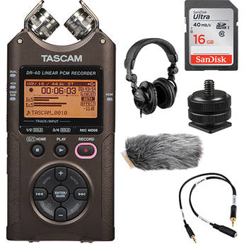 Tascam DR-40 On-Camera DSLR Audio Kit