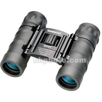 Tasco 8x21 Essentials Binocular (Black, Clamshell Packaging)