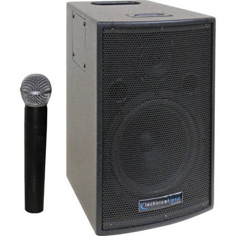 Technical Pro WASP500 Battery Powered PA System with Wireless VHF Microphone