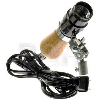 """Testrite Socket with 3/8"""" Light Stand Adapter"""