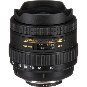 Tokina 10-17mm f/3.5-4.5 AT-X 107 DX AF Fisheye Lens for Nikon Digital SLR