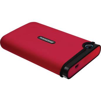 Transcend 500GB StoreJet 25M Portable Hard Drive (Red)