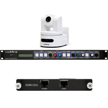 Vaddio WallVIEW CCU HD-19 PTZ Camera (Arctic White) with Quick-Connect CCU