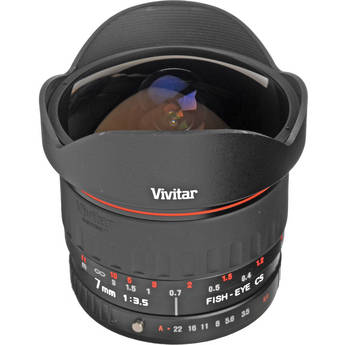 Vivitar 7mm f/3.5 Series 1 Fisheye Manual Focus Lens for Pentax Mount