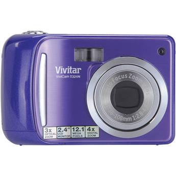 Vivitar Vivicam T324N Digital Camera (Grape)