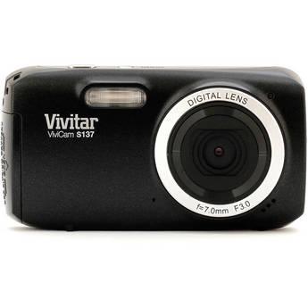 Vivitar 16.1Mp ViviCam S137 Digital Camera (Black)