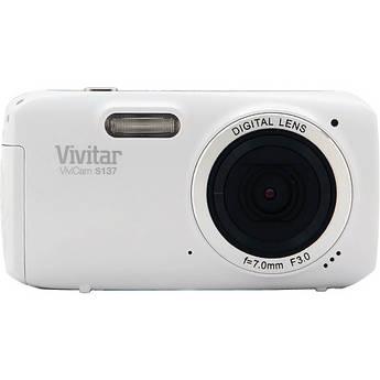 Vivitar 16.1Mp ViviCam S137 Digital Camera (White)