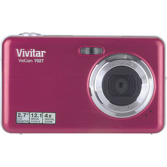 Vivitar ViviCam T027 Digital Camera (Pink)