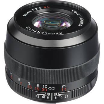 Voigtlander 90mm f/3.5 SL LL APO-Lanthar Lens for Canon EOS (Black)