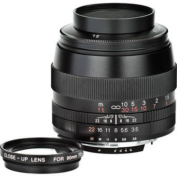 Voigtlander 90mm F/3.5 SL II APO-Lanthar Lens for Nikon (Black)