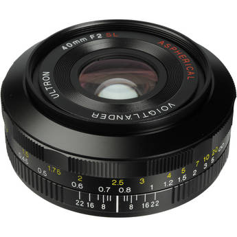 Voigtlander 40mm f/2.0 Ultron SL II Aspherical Lens for Canon