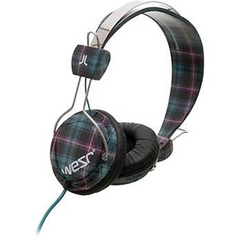 WeSC Bongo On-Ear Stereo Headphones (Checked Black)