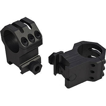 "Weaver 6-hole Picatinny-Style Riflescope Rings 1"" High (Matte)"