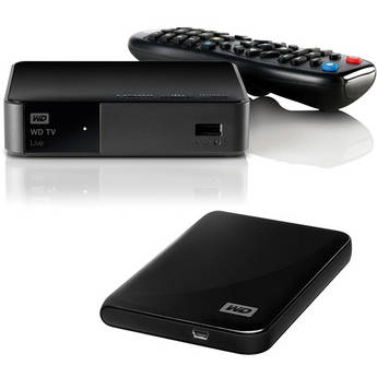 WD 1080p TV LIVE Streaming Media Player With 500GB Hard Drive