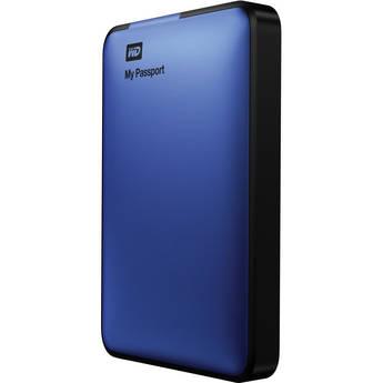 WD 1TB My Passport USB 3.0 Portable Hard Drive (Blue)