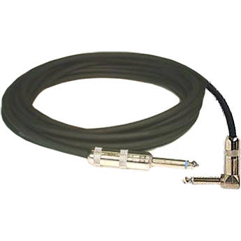 "Whirlwind SN-18R 1/4"" Male to 1/4"" Right-Angle Male Cable - 18'"