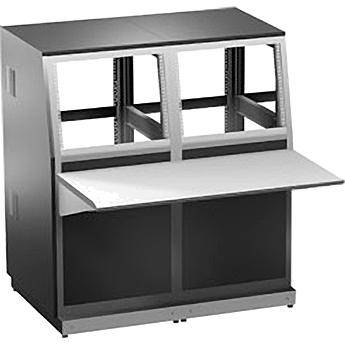 "Winsted 2-Bay Base and 14"" (35.56 cm) (8U) Slope Console, Model J8205"