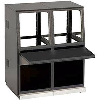 Winsted J8813 Two-Bay Slope Console, System/85 Series (Black)