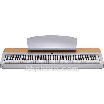 Yamaha p140s 88 key digital piano cherry wood silver p140s for Yamaha dgx640c digital piano cherry