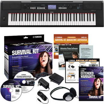 Yamaha Piaggero NP-V60 Lightweight Digital Piano Basics B&H Kit