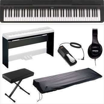 Yamaha Yamaha P-35 Compact 88-Key Piano Home Studio Kit (Black)