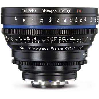 Zeiss Compact Prime CP.2 18mm f /3.6 Distagon T Nikon F Mount Lens