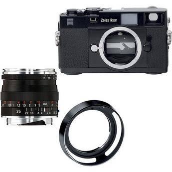 Zeiss Zeiss Ikon Rangefinder Film Camera, 35mm f/2 Biogon T* ZM Lens Bundle (Black)