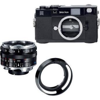 Zeiss Zeiss Ikon Rangefinder Film Camera, 35mm f/2.8 C Biogon T* ZM Lens Bundle (Black)