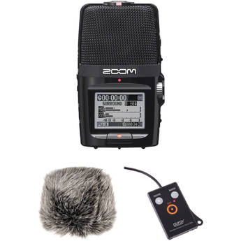 Zoom H2n Recorder with Custom-Tailored Windscreen and Remote Bundle