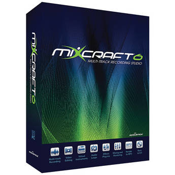 Acoustica Mixcraft 6 - Music Production Software (Academic 5-24 Licenses - Price per License)