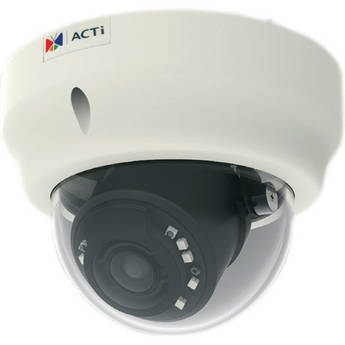 ACTi B61 5 Mp Basic WDR Day & Night Indoor IR Dome PoE Camera with 3x Zoom Lens