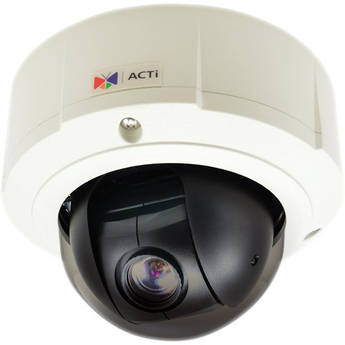 ACTi B96 5 Mp Basic WDR Mini PTZ Day & Night Outdoor Dome PoE Camera with 10x Zoom Lens