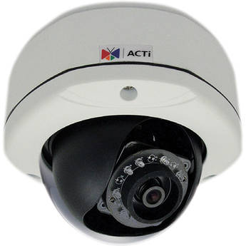 ACTi E72 3MP IR Day/Night Outdoor IP Dome Camera with Basic WDR, 2-Way Audio Support, & 2.93mm Fixed Lens