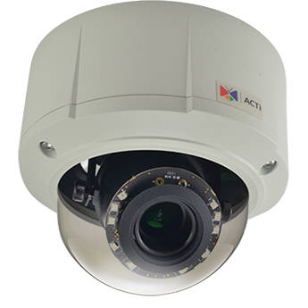 ACTi E89 10 Mp Adaptive IR Day/Night Vandal-Resistant Outdoor IP Dome Camera with 3.1 to 13mm Varifocal Lens