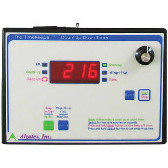 alzatex TMR218B6BK Count Up/Down Timer with 4-Digit LED Display